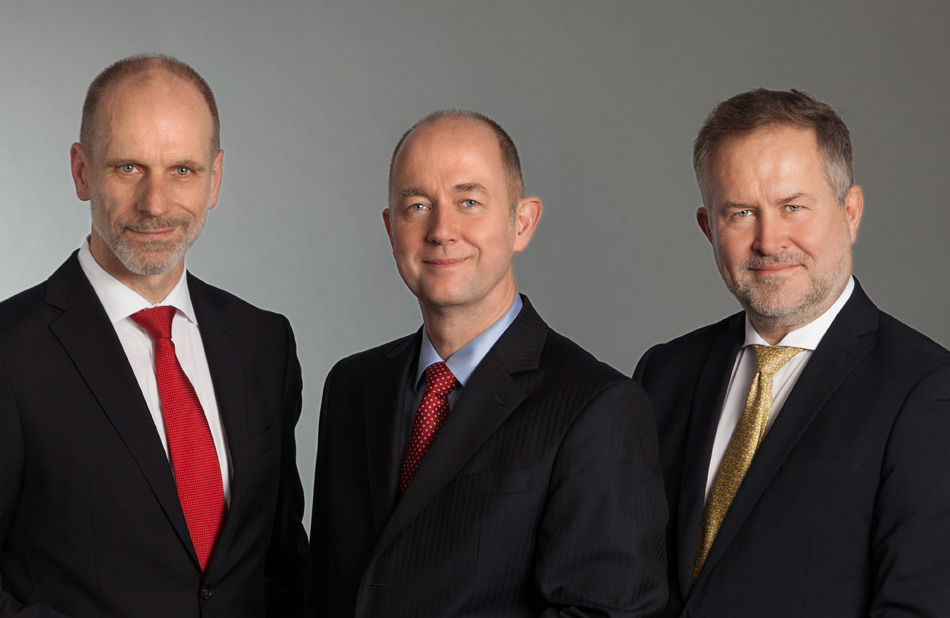 Managing Directors of North Channel Bank: Stefan Rensinghoff, Harald Zenke, Gunnar Volkers (from left to right)